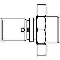 """Cofit P prés csatlakozó belső menettel, 16 x 2.0 mm x Rp 1/2"""", vakolat alatti szerelésre"""