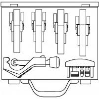 Cofit P préstechnikai rendszerbőrönd, fémbőröndben