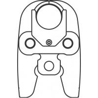 Prés pofa, H 40 A (2G), 40 mm-es csőre