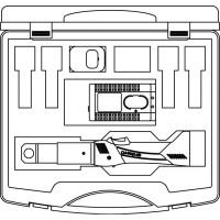 Akkumulátoros mini présgép 9,6 V, műanyag bőröndben