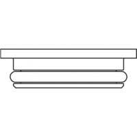 Lapos tömítésű közdarab, a lapos és kónuszos tömítésű felületek közé