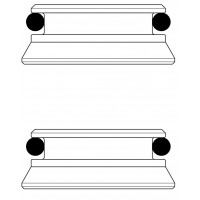 Kónuszos közdarab Multiflex F csavarzatokhoz, készlet = 2 db