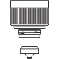 Szelepbetét, M20 x 1,0 mm beépített szelepes radiátorhoz, M30 x 1,5 mm-es termosztátcsatlakozó