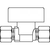 Gyorselzáró szelep, sárgaréz, nyers, vágógyűrűs csavarzat, 10 x 10 mm