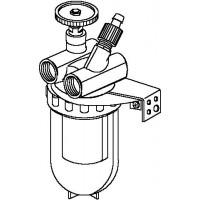 """Oilpur olajszűrő cirkulációs vezetékbe, DN15, 1/2"""" bm, légtelenítővel, Siku"""