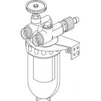 """Oilpur olajszűrő cirkulációs vezetékbe, DN10, 3/8"""" bm / km, légtelenítővel, Siku"""