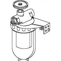 """Oilpur olajszűrő egyvezetékes rendszerre, 2 x 1/2"""" bm, nikkel 100-150 mikron, elzáróval"""