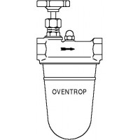 """Oilpur olajszűrő egyvezetékes rendszerre, 2 x 3/4"""" bm, alumínium csésze, nikkel, elzáróval"""