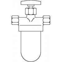 """Oilpur olajszűrő egyvezetékes rendszerre, 2 x 3/8"""" bm, olajkályhához, elzáróval"""