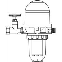 Toc-Duo-A kombinált olajszűrő/légtelenítő Opticlean szűrőbetéttel, hosszú, 2µm