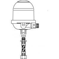 """Toc-Uno-N olaj légtelenítő szerelvény, 1/4"""" bm x 3/8"""" km, tömlővezetékkel"""
