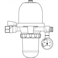 """Toc-Uno-3B olajszűrő/légtelenítő, 3/8"""" bm x 3/8"""" km"""