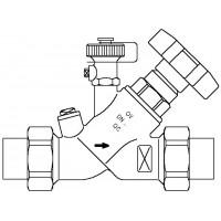 Aquastrom szelep (F) DN15, km forrasztható toldattal 15 mm, ürítővel, vörösöntvény