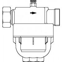 """Aquanova Compact vízszűrő, DN25, 1"""", PN16, 100-120 mikron, vörösöntvény"""