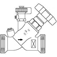 "Aquastrom szelep visszacsapóval (KFR), DN15, G 1"" x G 1"" ürítővel, vörösöntvény"