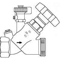 "Aquastrom szelep visszacsapóval (KFR), DN15, Rp 1/2"" x G 3/4"" ürítővel, vörösöntvény"