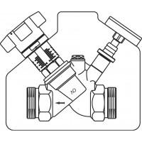 """Aquastrom C beszabályozó szelep, cirkulációs vezetékbe, DN15, G 3/4"""" km"""