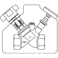 """Aquastrom C beszabályozó szelep, cirkulációs vezetékbe, DN15, Rp 1/2"""" bm"""