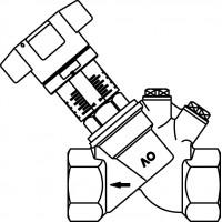 """Aquastrom C beszabályozó szelep, cirkulációs vezetékbe, DN15, Rp 1/2"""" bm, szigetelés és hőmérő nélkül"""