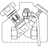 """Aquastrom C beszabályozó szelep, cirkulációs vezetékbe, mintavételi szeleppel, DN15, Rp 1/2"""" bm"""