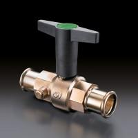 Optibal TW golyóscsap ivóvízre, 15 mm-es préscsatlakozóval, ürítővel, vörösöntvény