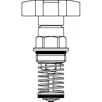 Aquastrom KFR-szelepfelsőrész, DN15, vörösöntvény