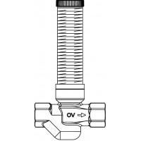 """Aquastrom szerelőfal mögé építhető cirkulációs szelep (UP-Therm), DN15, Rp 1/2"""" x Rp 1/2"""", vörösöntvény"""