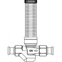 Aquastrom szerelőfal mögé építhető cirkulációs szelep (UP-Therm), DN15, 15 mm-es préscsatlakozóval, vörösöntvény