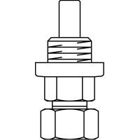 Szabályozó csavarzat keverőszerelvényhez, kis térfogatáramok beállítására