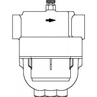 "Aquanova Compact vízszűrő, 100-120 mikron, bm, DN25, 1"", PN16, sárgaréz"