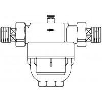 "Aquanova Compact vízszűrő, 100-120 mikron, km, DN20, 3/4"", PN16, vörösöntvény"