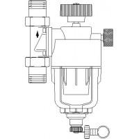 Aquanova Compact RE visszamosható, vízszűrő, DN20, 100-140 mikron, PN16